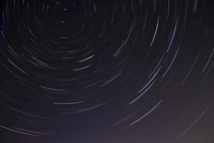 time lapse photo of stars on night